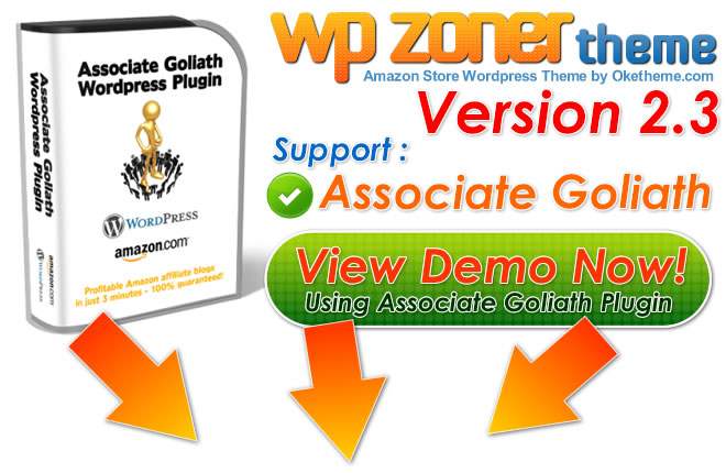 Amazon WordPress Theme Support Associate Goliath and WPRobot