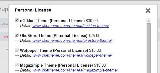 cara pembelian template oketheme 1