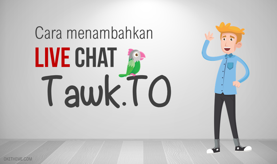 Cara pasang live chat Taw.to
