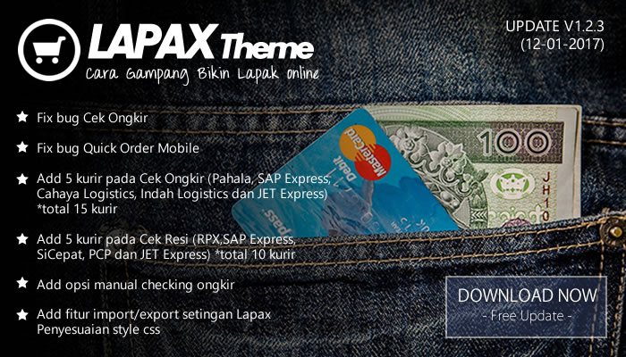 Update Lapax Theme versi 1.2.3